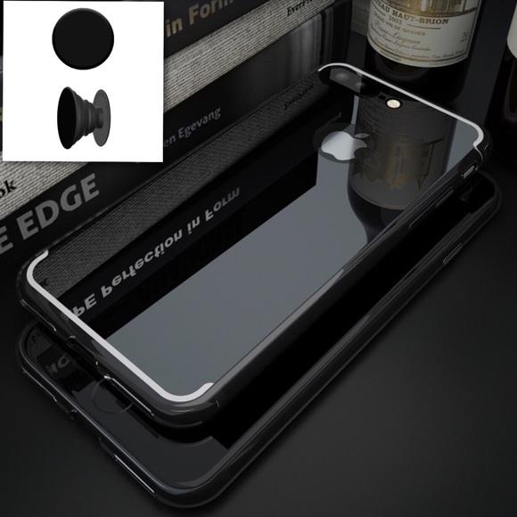 Accessories - Black mirror iPhone 7 Plus case+glass+popsocket 7e66cc09a614